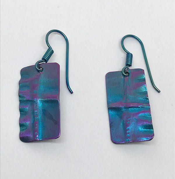 Fold Formed Niobium Earrings